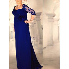 A-Line/Princess Square Neckline Chiffon Stunning Mother of the Bride Dresses
