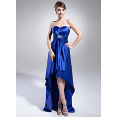Empire Charmeuse Sweetheart Sleeveless Evening Dresses