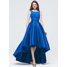 Taffeta Sleeveless Asymmetrical - A-Line/Princess Prom Dresses