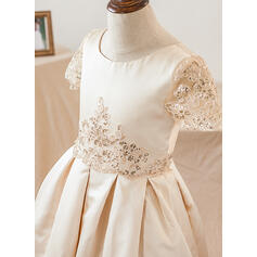 blush lace flower girl dresses for wedding