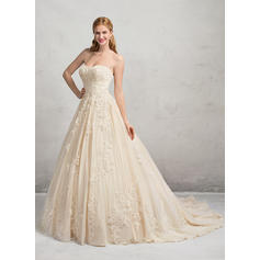 Ball-Gown Sweetheart Chapel Train Wedding Dresses