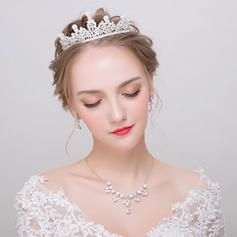 Jewelry Sets Alloy/Rhinestones/Imitation Pearls Earclip Ladies' Gorgeous Wedding & Party Jewelry