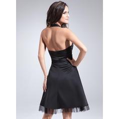 Sencillo Corte A/Princesa Satén Baile de promoción (016008223)