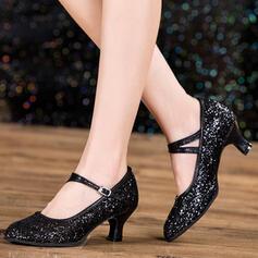 Vrouwen Character Shoes Sprankelende Glitter Dansschoenen