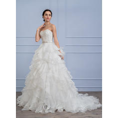 scoop lace wedding dresses