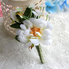 "Boutonniere/Men's Accessories Wedding Satin 4.53""(Approx.11.5cm) The color of embellishments are shown as picture/Color & Style representation may vary by monitor Wedding Flowers"