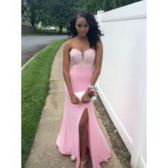Beautiful Jersey Sheath/Column Sweetheart Prom Dresses (018146608)