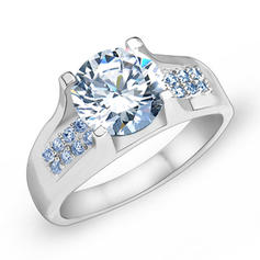 Rings Zircon/Platinum Plated Ladies' Charming Wedding & Party Jewelry