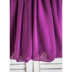 Vestidos princesa/ Formato A Coquetel Vestidos de Menina das Flores - Tecido de seda Sem magas Decote redondo com fecho de correr (010090289)