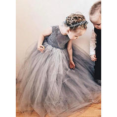 Fashion Floor-length A-Line/Princess Flower Girl Dresses Scoop Neck Sleeveless