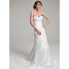 Taffeta Strapless Court Train Stunning Wedding Dresses (002001703)