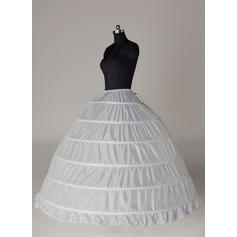Bustle Floor-length Tulle Netting/Satin Full Gown Slip 4 Tiers Petticoats
