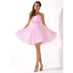 Sin mangas General Corazón con Tul Vestidos de novia (002059575)