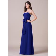 long brown bridesmaid dresses