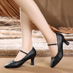 Vrouwen Ballroom Character Shoes Hakken Kunstleer Dansschoenen