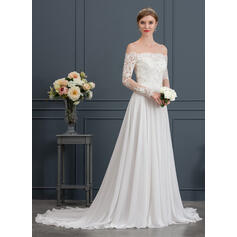 tight wedding dresses with long trains