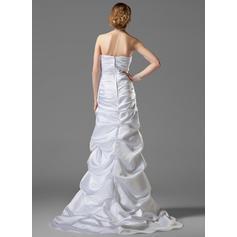 utrustade bröllopsklänningar utan tåg