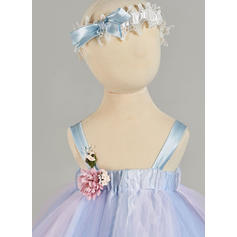 A-Line/Princess Straps Ankle-length Tulle Christening Gowns With Flower(s) (2001217436)