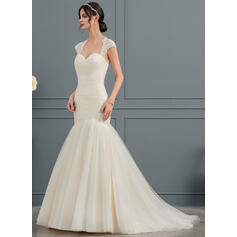 tan wedding dresses