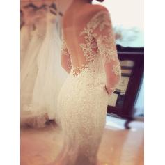 sheer wedding dresses with sleeves