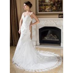 a línea de vestidos de novia sin tirantes