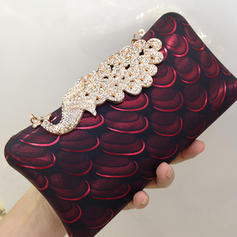 """Clutches/Satchel Wedding/Ceremony & Party Crystal/ Rhinestone/PU Charming 7.87""""(Approx.20cm) Clutches & Evening Bags"""