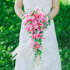 "Bridal Bouquets/Bridesmaid Bouquets Cascade Wedding Satin 9.84""(Approx.25cm) Wedding Flowers"