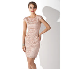 Luxurious Scoop Neck Sheath/Column Lace Mother of the Bride Dresses (008211204)