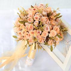 Maravilloso Forma libre Tejido Ramos de novia/Ramos de la dama de honor -