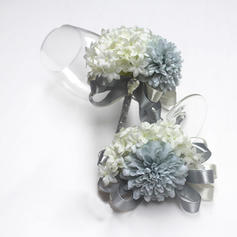 "Flower Sets Wedding/Party/Casual Ribbon/Artificial Silk 3.94""(Approx.10cm) 3.15"" (Approx.8cm) Wedding Flowers"