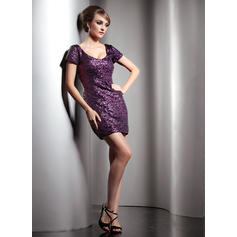 3/4 sleeve knee length cocktail dresses