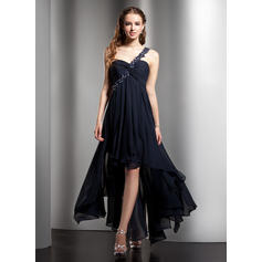 Empire Asymmetrical Chiffon One-Shoulder Homecoming Dresses (022008972)