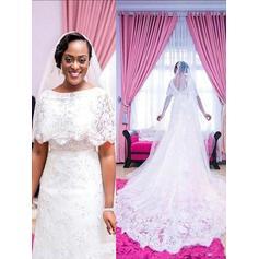 Encaje Por debajo del hombro Corte A/Princesa - Encaje Vestidos de novia (002210919)