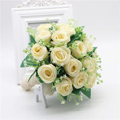 Bridal Bouquets/Bridesmaid Bouquets Hand-tied Wedding/Party Satin Wedding Flowers
