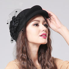 Wool With Tulle Beret Hat Beautiful Ladies' Hats