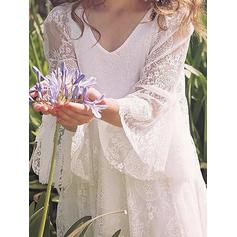 champagne flower girl dresses long