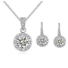Jewelry Sets Alloy/Zircon Lobster Clasp Pierced Ladies' Wedding & Party Jewelry