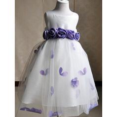 pink tulle flower girl dresses