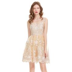 A-Line/Princess Sweetheart Knee-Length Homecoming Dresses (022214174)