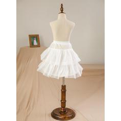 Correas de hombro Corte de baile Vestidos para niña de arras Satén Lazo(s) Sin mangas Hasta la tibia (010211649)