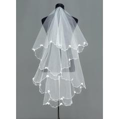 Waltz Bridal Veils Tulle One-tier Cascade With Scalloped Edge Wedding Veils