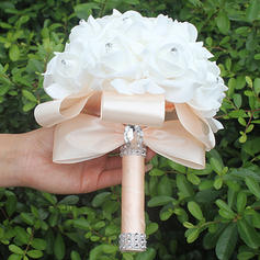 "Bridal Bouquets Round Wedding/Party Satin 7.09""(Approx.18cm) Wedding Flowers"