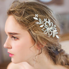 """Combs & Barrettes Wedding/Special Occasion/Party/Art photography Rhinestone/Imitation Pearls 4.92""""(Approx.12.5cm) 2.36""""(Approx.6cm) Headpieces"""