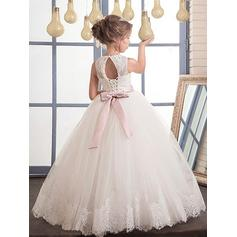 pink princess flower girl dresses