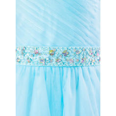Bretelles Robe Marquise Robes de demoiselle d'honneur - fillette Tulle Brodé/Paillettes/Strass Sans manches Longueur ras du sol (010212158)