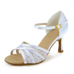 De mujer Danza latina Tacones Sandalias Satén Zapatos de danza