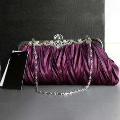 Clutches Wedding/Ceremony & Party Silk Clip Closure Elegant Clutches & Evening Bags