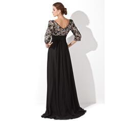 coral chiffon evening dresses short