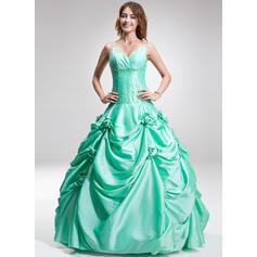 Novio Corte de baile con Tafetán Vestidos de baile de promoción (018135410)