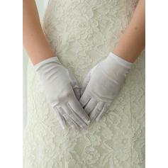 Satäng Wrist Längd Handskar Bridal